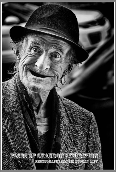 A CHARACTER: ''Dublin John'' one of Martin's images, which is currently on show at the City Library.