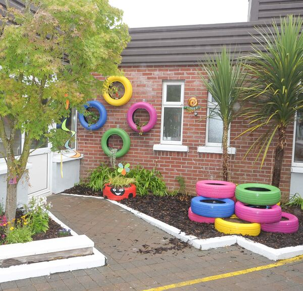 A section of the sensory garden at St Gabriel's special needs school in Bishopstown, Cork, at the handover following a major refurbishment project by Carrigtwohill based company Merck Ireland.Picture: David Keane.