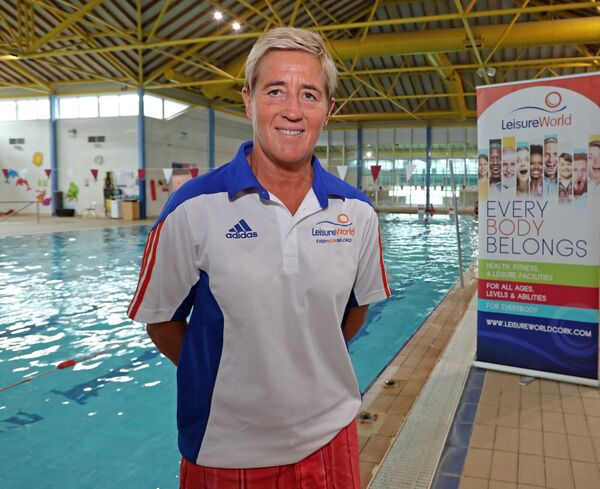 Eilis Burns, Head Swim Coach Leisure World Group Cork, at Leisure World Bishopstown, Cork. Picture: Jim Coughlan.
