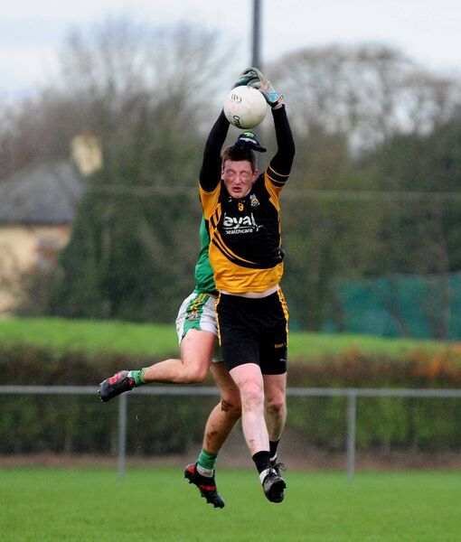 Fermoy's Jack Hutchings grabs a high ball. Picture: Eamonn McGee
