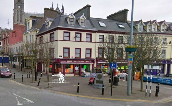 An artist's impression of the Jack Doyle statue proposed Pearse Square, Cobh.