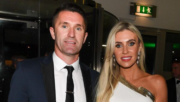 Robbie and Claudine Keane, looking stylish at the Liam Miller gala black tie dinner, at City Hall. Picture: David Keane.