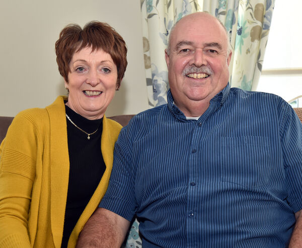 Trevor Laffan with his wife Gaye, at home in Cobh Picture: Eddie O'Hare