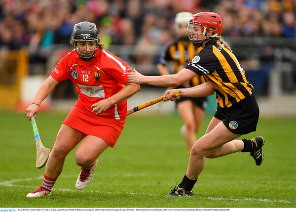 Linda Collins in action against Kilkenny. Picture: Piaras Ó Mídheach/Sportsfile