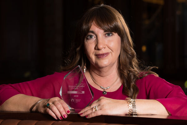 CELEBRATING SUCCESS: Maria Desmond, Enable Ireland, who was the winner of the Best Employee Award sponsored by EQ.ie at the Network Cork Business Women of the Year Awards. Pictures: Darragh Kane