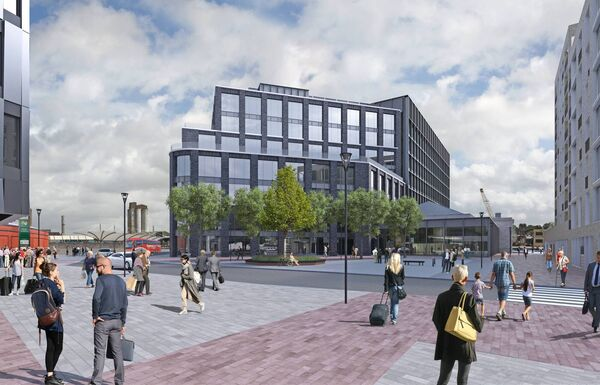 The proposed Horgan's Quay development, HQ,  features eight buildings, with 237 apartments, a hotel and 400,000 sq ft of offices.