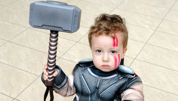 Logan Day, 2, Fermoy, as Thor at Cork Comic Expo at Mahon Point Shopping Centre.