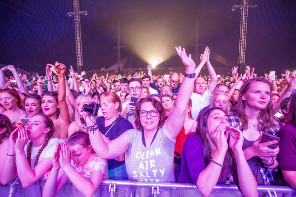 Eager fans enjoying The Script playing Live at The Marquee. Picture: Michael O'Sullivan/OSM PHOTO