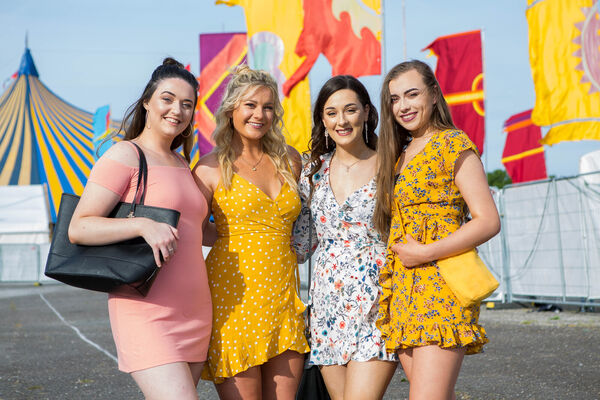 Chloe Hayes, Lisa Lynch, Eimear O'Regan and Órla O'Donovan, pictured attending The Script. Picture: Michael O'Sullivan/OSM PHOTO