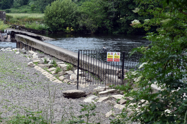The damaged weir at the Regional Park BallincolligPicture: Eddie O'Hare