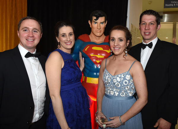 MY HERO....Jason and Julia Cashman and Joanne and Ian Hegarty of Down Syndrome Centre.
