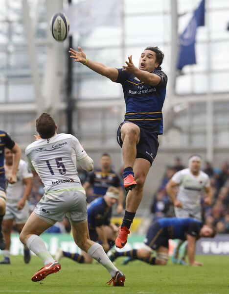 Leinster's James Lowe grabs the ball. Picture: Lorraine O'Sullivan/PA Wire.
