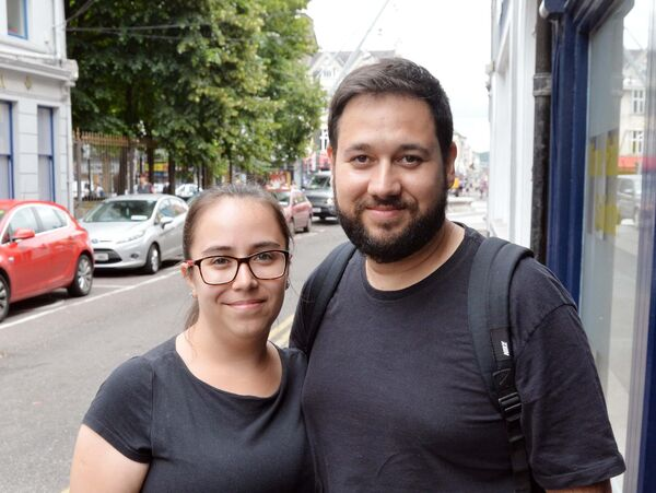 Cecilia Teixeira and Fabricio Silveira. They say that finding somewhere to live in Ireland is much harder than in Brazil.Picture: Denis Minihane.