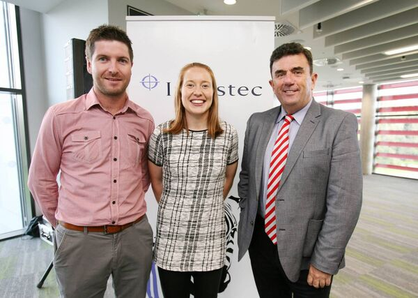 At the Investec Corporate event at Páirc Uí Chaoimh were Paidí Collins, Rena Buckley  and Des Cahill. Picture: Tony O'Connell.