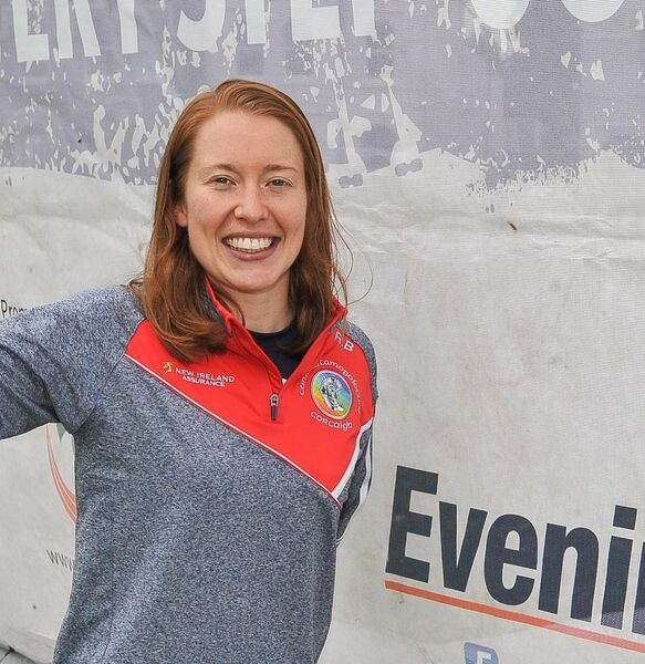 Rena Buckley shows her support for the Evening Echo Mini Marathon. Picture: David Keane.