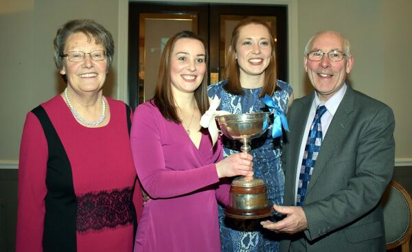Helen and Tim Buckley with their daughters, Mary  and Rena, at Lee Valley Golf Club, as they celebrated Inniscarra camogie win.Picture: Mike English