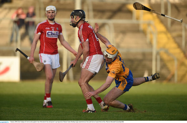 Eoin Cadogan holds off Conor McGrath. Picture: Diarmuid Greene/Sportsfile