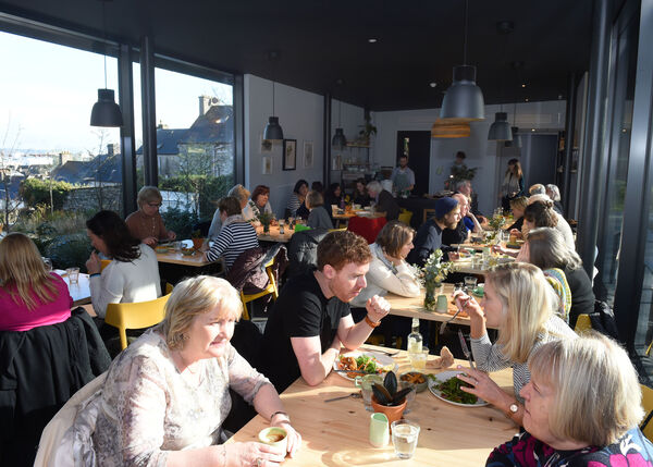 Diners enjoying lunch at the Good Day Deli, Nano Nagle Centre, Douglas St, Cork.Pic; Larry Cummins