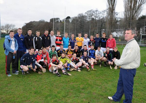 Paul O'Connor with his UCC Fitzgibbon Cup squad in 2012. Picture: Des Barry