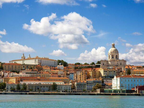 A view of Lisbon from the Tagus River.