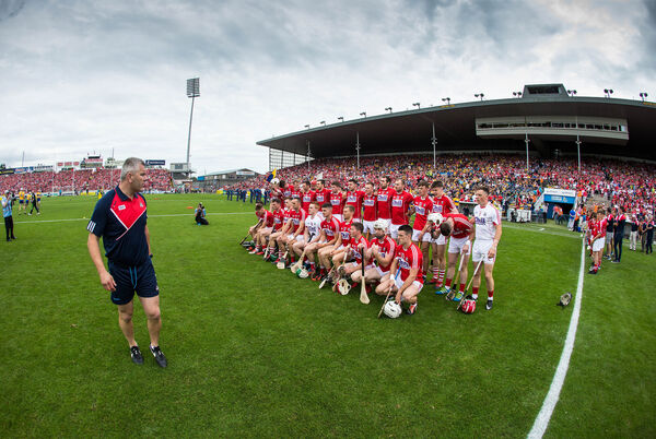 Diarmuid O'Sullivan with the Cork team last summer. Picture: INPHO/Cathal Noonan