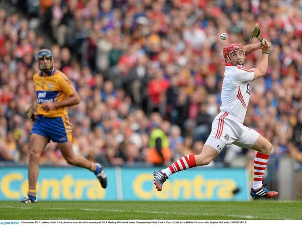 Anthony Nash buries a goal in 2013. Picture: Stephen McCarthy/SPORTSFILE