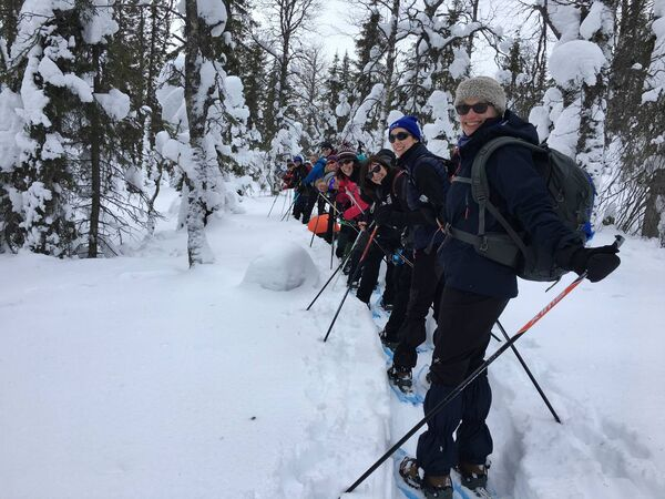 Conquering the Arctic, 20 top Irish business women trekked 150km north of the Arctic Circle on a survival challenge to raise funds for EB Butterfly Skin charity Debra Ireland. Photo by Ursula Beecher.