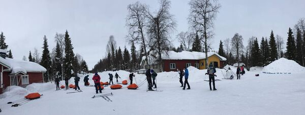 The group at Kittila in northern Finland. Picture: Ursula Beecher.