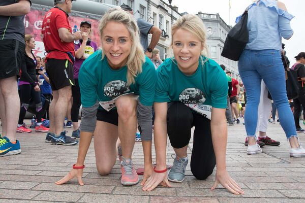 Sisters Orla and Ciara Finn, Kinsale at the start of the 2018 Irish Examiner Cork City Marathon.