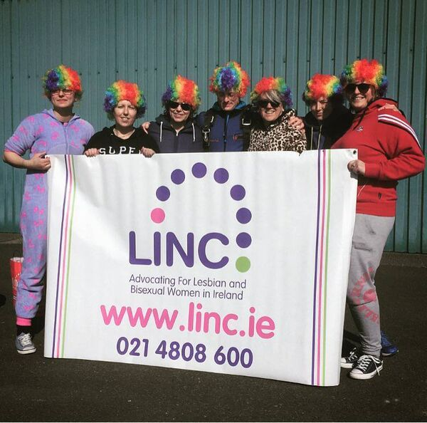 Members and friends of LINC taking part in the annual fundraising skydive.