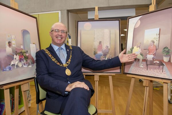 "The Lord Mayor of Cork, Cllr. Joe Kavanagh at the launch of the Glucksman's ""100 Years of Change"" as part of Cork City Council's 1920 centenary celebratons.Pic: Brian Lougheed"