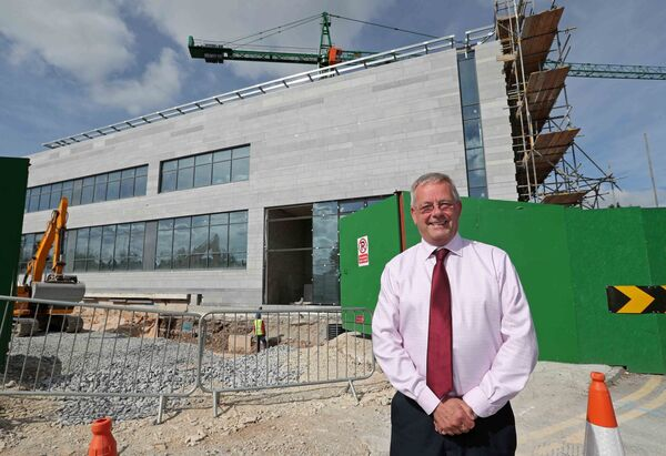 Tony McNamara, Chief Executive Officer of Cork University Hospital at the construction site for the new radiation and oncology ward. Picture: Jim Coughlan.