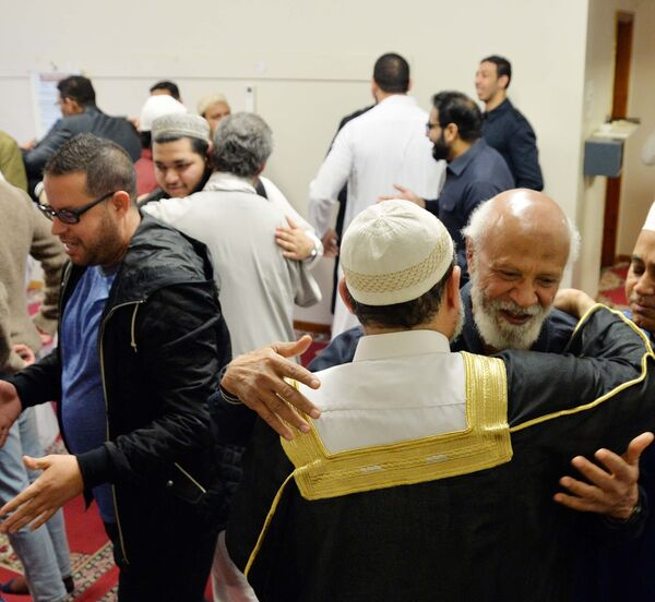 An Eid celebration at the end of Ramadan in the Islamic Information Centre, Shandon St. Picture: Denis Minihane.