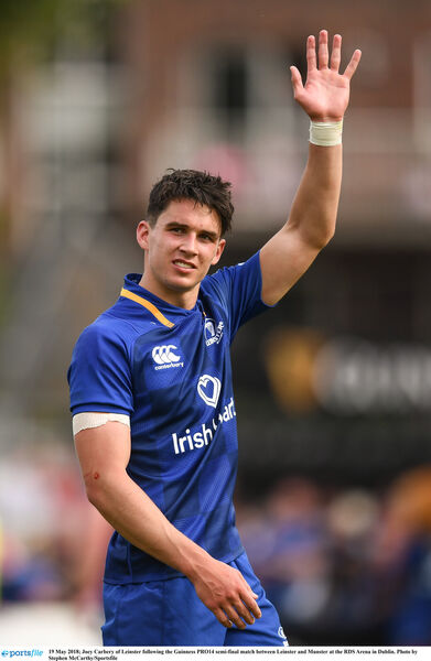 Joey Carbery will bid farewell to Leinster. Picture: Stephen McCarthy/Sportsfile
