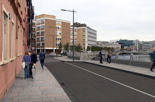 A view of Morrison's Island after the street upgrade.