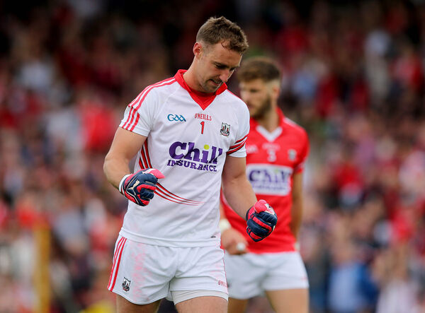 O'Halloran celebrates Cork's first goal in Killarney in 2015. Picture: INPHO/Ryan Byrne