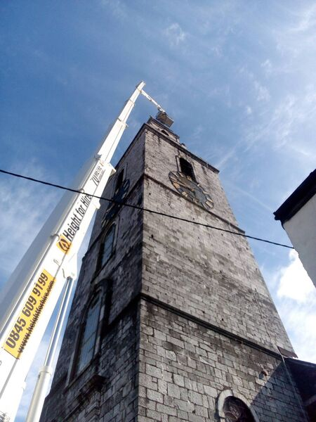 Repair work carried out to the Shandon Bell Tower.