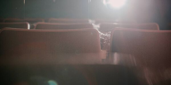 Cobwebs on the seats in one of Cork's old cinemas.