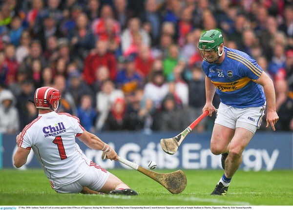 Anthony Nash blocks a John O'Dwyer effort. Picture: Eóin Noonan/Sportsfile