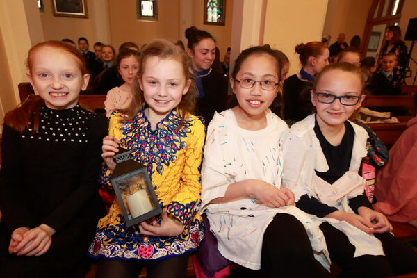 Pupils from Scoil Aiséirí Chríost; Jasmine O'Byrne, Amilly Udron, Presamaine Romas and Kate Waters. Picture: Ger Bonus
