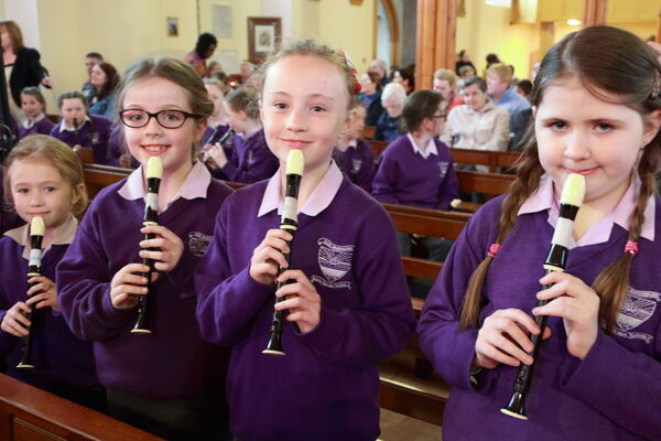 Alisha O'Callaghan, Emily O'Donoghue, Lauren Kennedy and Ava O'Mahony from St. Brendan's Girls' NS The Glen. Picture: Ger Bonus
