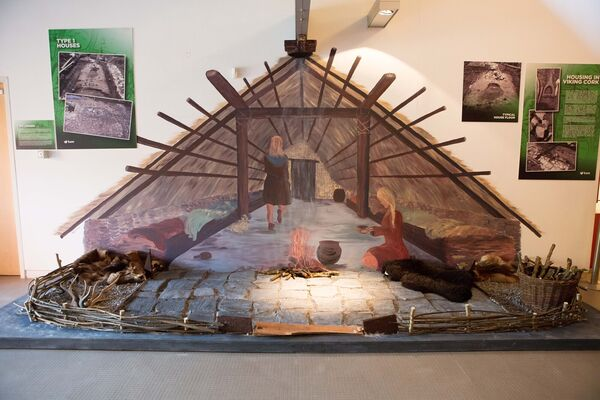 "A reconstructed Viking era house among other artefacts on display at the launch of the ""Below Our Feet"" Exhibition. Picture: Michael O'Sullivan/OSM Photo"