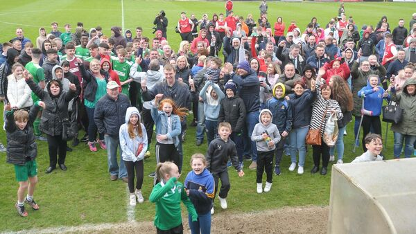 Greenwood supporters celebrate. Picture: David Keane.