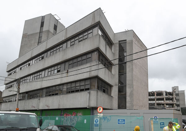 The former Tax and Fas offices on Sullivan's Quay which are currently being demolished. Picture: David Keane.