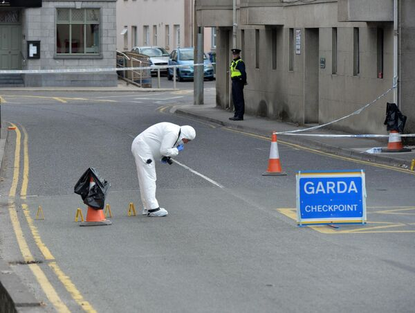 Garda forensic examination at scene of a killing at Bridge St. Mallow, Co. CorkPic Michael Mac Sweeney/Provision