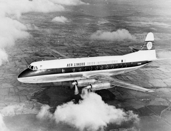 An Aer Lingus Viscount aircraft, the same type as the one which crashed on March 24, 1968, killing all 61 passengers on board.	Picture: PA.