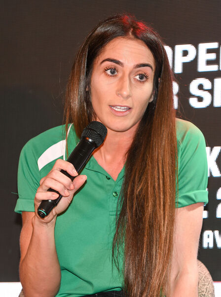 Grainne Dwyer, giving her views during the special Q&A session at Rearden's Bar. Picture: David Keane.