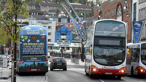Traffic increase blamed for city buses passing stops without picking up passengers