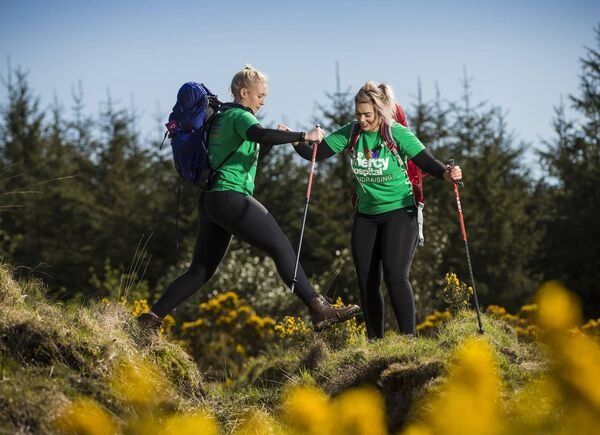 Sisters, Niamh and Orla Walsh from Kildorrery, Co. Cork, who will join the climb on Sunday, June 10th in memory of their father, Garry Walsh.  Picture: Cathal Noonan