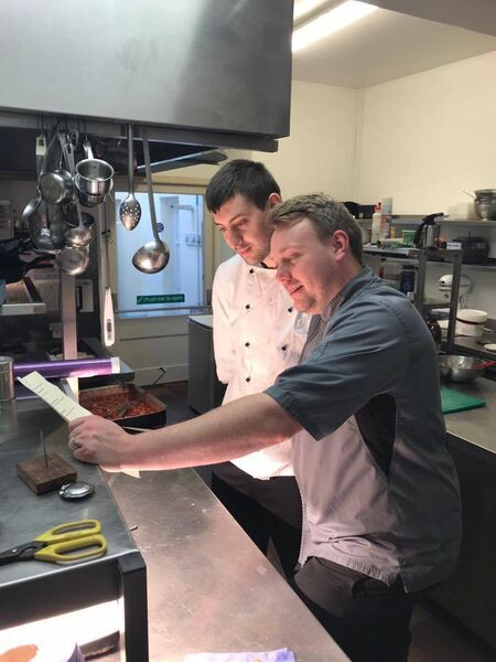 Danny Barter, Head Chef at Liss Ard, with sous chef Josh Graddon.